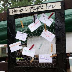 prayer board/message board