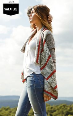 From cardigans to pullovers, find your favorite Women's Sweaters at American Eagle Outfitters today  -- Shop online at AE through Zoola and get cash back!