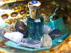 Blue Moon Rituals   BLUE MOON gemstone and annointing/perfume oil set   Sage Goddess