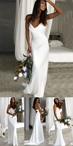 Simple Wedding Dresses, Beach Wedding Dress, 2019 Wedding Bride Dress backless wedding dress mermaid open backs lace button wedding dresses with long sleeves Wedding Dress Trends, Princess Wedding Dresses, Best Wedding Dresses, Boho Wedding Dress, Wedding Bride, Bridal Dresses, Wedding Dress Simple, Wedding Dress Big Bust, Simple Party Dress