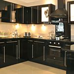 Cheap black fitted kitchen from the UK
