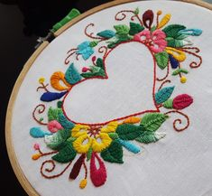 Coronary heart and flower stitches embroidery Starting Hand Embroidery Embroidery has humble roots, which is nice information for rooki. Embroidery Hearts, Hand Embroidery Flowers, Crewel Embroidery Kits, Flower Embroidery Designs, Ribbon Embroidery, Wedding Embroidery, Indian Embroidery, Embroidery Ideas, Techniques Couture