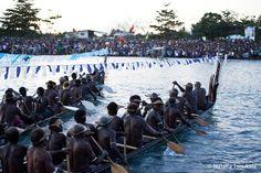 Cerimônia de Abertura do Festival de Artes do Pacífico, em Honiara, Ilhas Salomão.