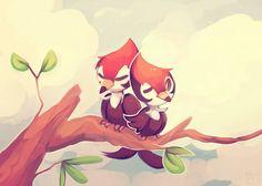 A Pair of Pikipek by honrupi.deviantart.com on @DeviantArt