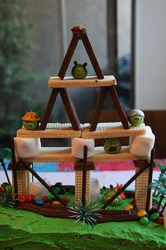 DIY angry birds tower
