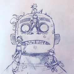 Here is a place where I will post all of the official Gorillaz art. I claim none of this art and it is all created by Jamie Hewlett. I will NOT be posting any fan art (including edits). Jamie Hewlett Art, Gorillaz Fan Art, Graffiti, Arte Disney, Cartoon Shows, Drawing Reference, Cool Bands, Art Inspo, Cool Art