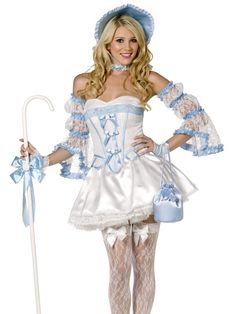 Fever Boutique Bo Peep 4 Piece Costume.  http://www.getiton-fancydress.co.uk/adults/fairytales/storybookcostumes/feverboutiquebopeep4piececostume#.UnhK5FOnIYI