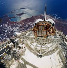 A photo taken from a space shuttle of Shark Bay Western Australia ! www.sharkbaycottages.com.au