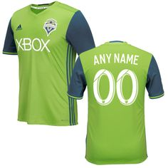 Seattle Sounders FC 2016/17 Any Name Number Home Soccer Jersey Rave Green