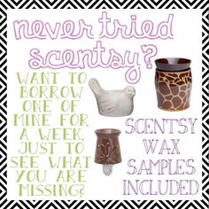 Never tried Scentsy? https://annalawson.scentsy.us/