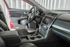 View 2015 Toyota Camry Photos from Car and Driver. Find high-resolution car images in our photo-gallery archive. Toyota New Car, 2015 Toyota Camry, Toyota Usa, Toyota Cars, Top 10 Sports Cars, Most Popular Cars, Used Cars, Interior, Morning News
