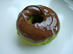 Chocolate Glazed Matcha Doughnut