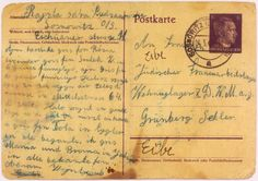 Postcard from Rajzla Cudzanowska, aunt of the donor, Helen Luksenburg. This postcard was sent on March 4, 1942 from Sosnowiec to Rajzl's daughter and sister in the Gruenberg labor camp. [Photograph #23933]