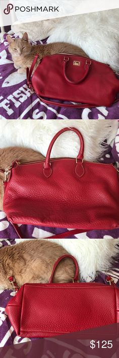 👜Dooney & Bourke bag👛 Authentic Dooney & Bourke super soft leather bag. Very roomy inside. Stunning. NEVER USED! Again a result of impulsive shopping😳. Comes with a strap for a cross body. Sorry no dust bag. 😻Calvin is not for sale!!!🙀 Dooney & Bourke Bags Crossbody Bags
