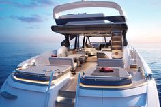 The @princessyachts latest luxury yacht and new flagship the S78. This is the ultimate yacht for entertaining with her grand central access to the cockpit leading to versatile modular seating and a specially designed sound system from world-renownedNaim Audio. The draft of 1.8m/5.1ft allows S78 to approach closer to beaches and navigate shallower waterways. The S78 is fitted with a MAN 1900 mhp engine and the resin-infused hull delivers exceptional performance with a top speed of up to 39…