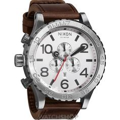 Mens Nixon The 51-30 Chrono Leather Chronograph Watch A124-2113