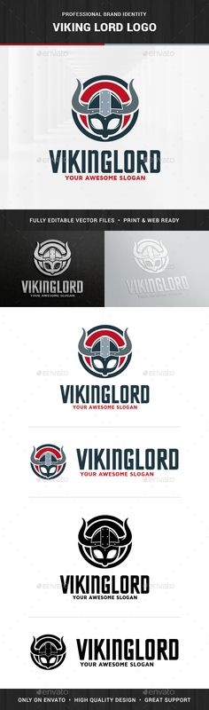 Viking Lord Logo Template - Humans #Logo Templates | Download http://graphicriver.net/item/viking-lord-logo-template/15257085?ref=sinzo