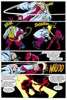 Daredevil vs. Kingpin for the first time.