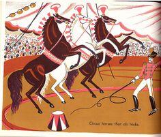 'World Full of Horses' by Dahlov Ipcar, 1955