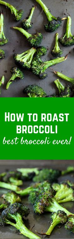 How to Roast Broccoli - once you learn, you'll never eat this vegetable any other way! Read the easy process on RachelCooks.com