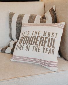 """Most Wonderful"" Pillow | The Magnolia Market"