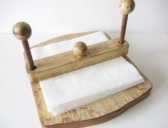 Farmhouse chic Napkin Holder wooden upcycled distressed by NEWaged, $22.00