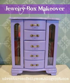 DIY Painted jewelry box painting ideas would a large one work