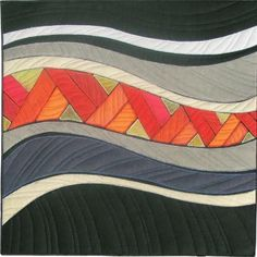 Flow; by Terry Grant -- My first impression here was that this is Seminole patchwork, but it isn't.  Nice movement.
