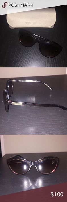 Giorgio Armani Cat Eye Brown Tortoise Sunglasses Excellent condition, gently worn. Original case and box. Classic and sophisticated. Giorgio Armani Accessories Sunglasses