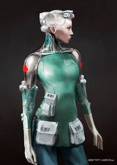 "Concept art for a medical droid by Aaron Beck for ""Elysium"" (2013)."