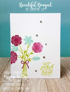 Stampin' Up! Beautiful Bouquet bundle with Bouquet Bunch framelits - Creativity Your Way Facebook