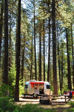 red awning airstream love!!