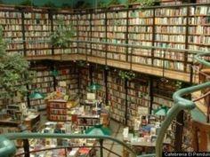 afebreria El Péndulo en Ciudad de México (México): Posiblemente la única librería del mundo con todo tipo de plantas en su interior.