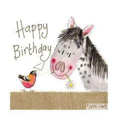 Alex Clark Birthday Card - Pretty Pony