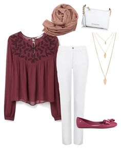 Casual outfit by fashionable-hijabi on Polyvore featuring polyvore, feature brands: MANGO, NYDJ, Melissa, Michael Kors, Forever 21