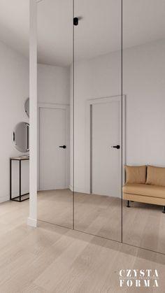 Modern hallway / Mirror in hallway / Modern entryway / Portfolio projektowanie wnętrz lublin   Czysta forma   Projektowanie wnętrz Lublin, Warszawa Divider, Stone, Wood, Modern, Furniture, Home Decor, Rock, Trendy Tree, Decoration Home