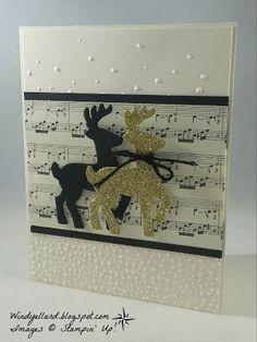 Windy's Wonderful Creations: PP322 Reindeer Christmas, Stampin' Up!, Santa's Sleigh dies, This Christmas DSP