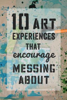 a child's authentic exploration helps them learn about their place in the world ~ and yes, sometimes this can be messy! Ideas for messy art projects! Art Activities For Kids, Craft Projects For Kids, Fun Crafts For Kids, Preschool Art, Art For Kids, Art Projects, Craft Ideas, Messy Art, Messy Play