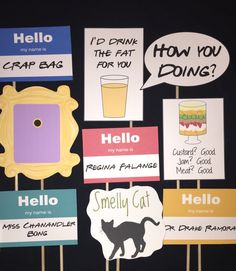 Friends TV Show themed Photo Booth Props by IGotMadProps on Etsy