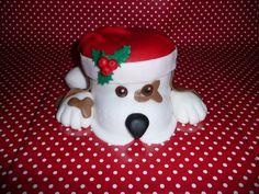 Kersthond taart