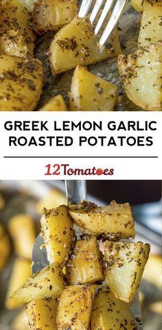 Greek Lemon Garlic Roasted Potatoes - looks amazing and simple!!!!!!!