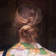 gorgeous messy braid bun