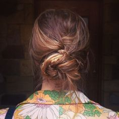 gorgeous messy braid bun