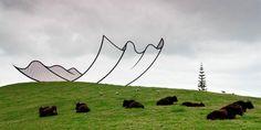 neil dawson horizons sculpture gibbs farm 2 1 680x341 Les sculptures de la Gibbs Farm  sculpture bonus art
