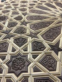 #Kündekari #Kundekari Moroccan Art, Moroccan Design, Wooden Art, Wood Wall Art, Geometric Designs, Geometric Art, Contemporary Interior Design, Interior Design Living Room, Door Design