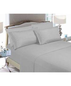 20a584a6b0f5 Elegant Comfort 4-Piece Luxury Soft Solid Bed Sheet Set King - Black