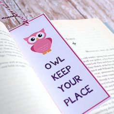 'Owl Keep Your Place' bookmark - so cute!  #craftprojects @Looksi Square  #crazylittleprojects