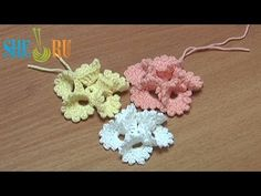 Crochet Folded Petal Flower With Picots Tutorial