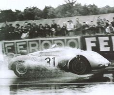 "1959 .. Le Mans , entered by Porsche KG. Porsche 718 RSK , driven by Jo Bonnier / ""Taffy"" von Tripps , DNF>clutch ."