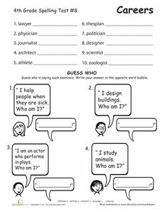 Fourth Grade Spelling Tests | Education.com